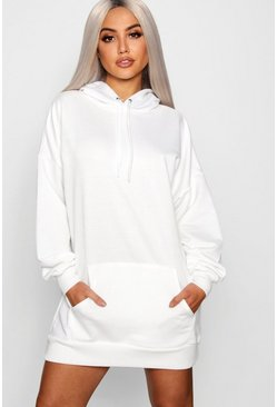 White The Perfect Oversized Hooded Sweat Dress