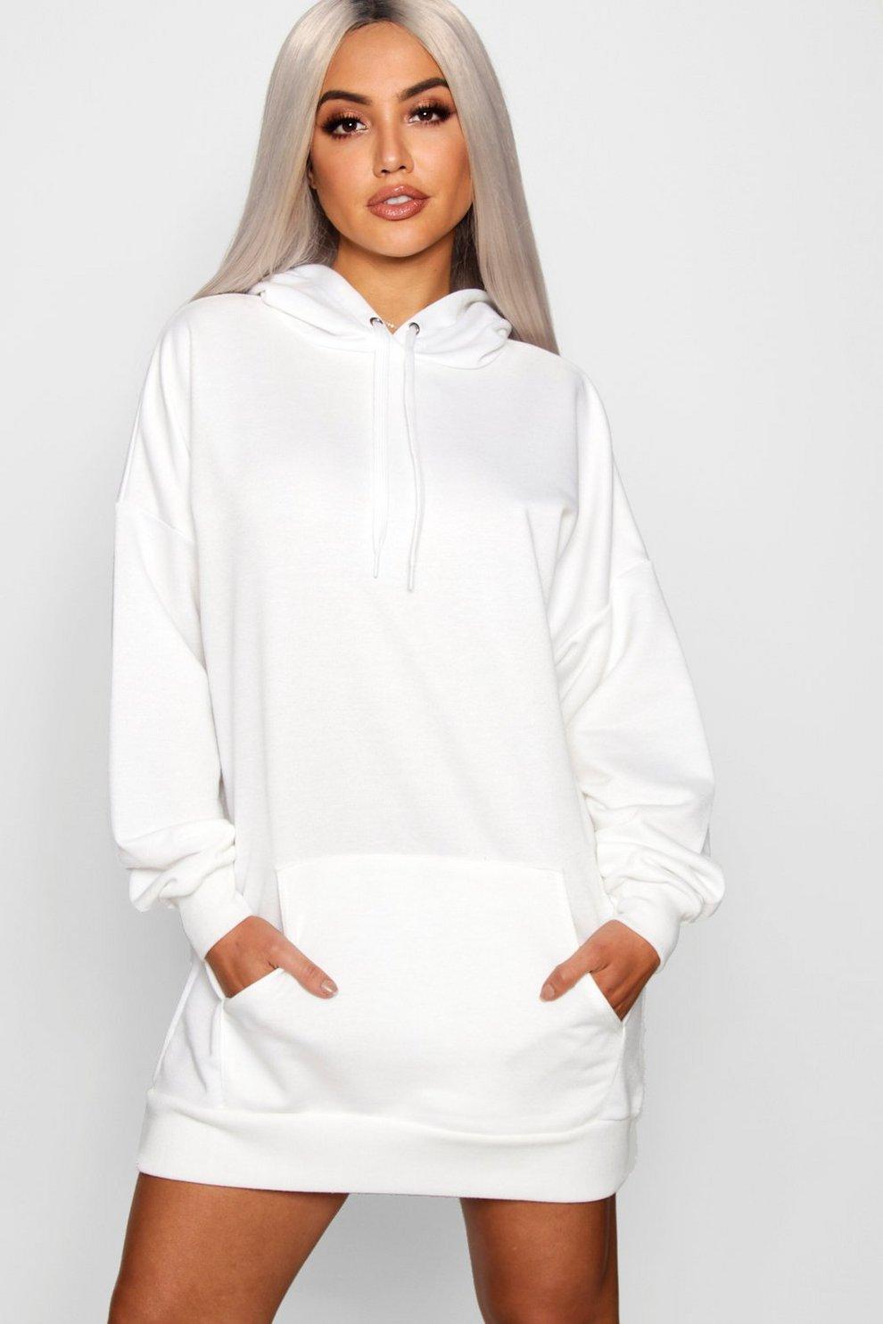 d770b3a41fee The Perfect Oversized Hooded Sweat Dress   Boohoo