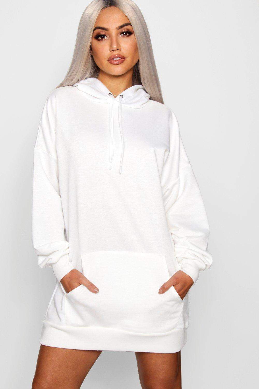 0f41db8b921 Womens White The Perfect Oversized Hooded Sweat Dress. Hover to zoom
