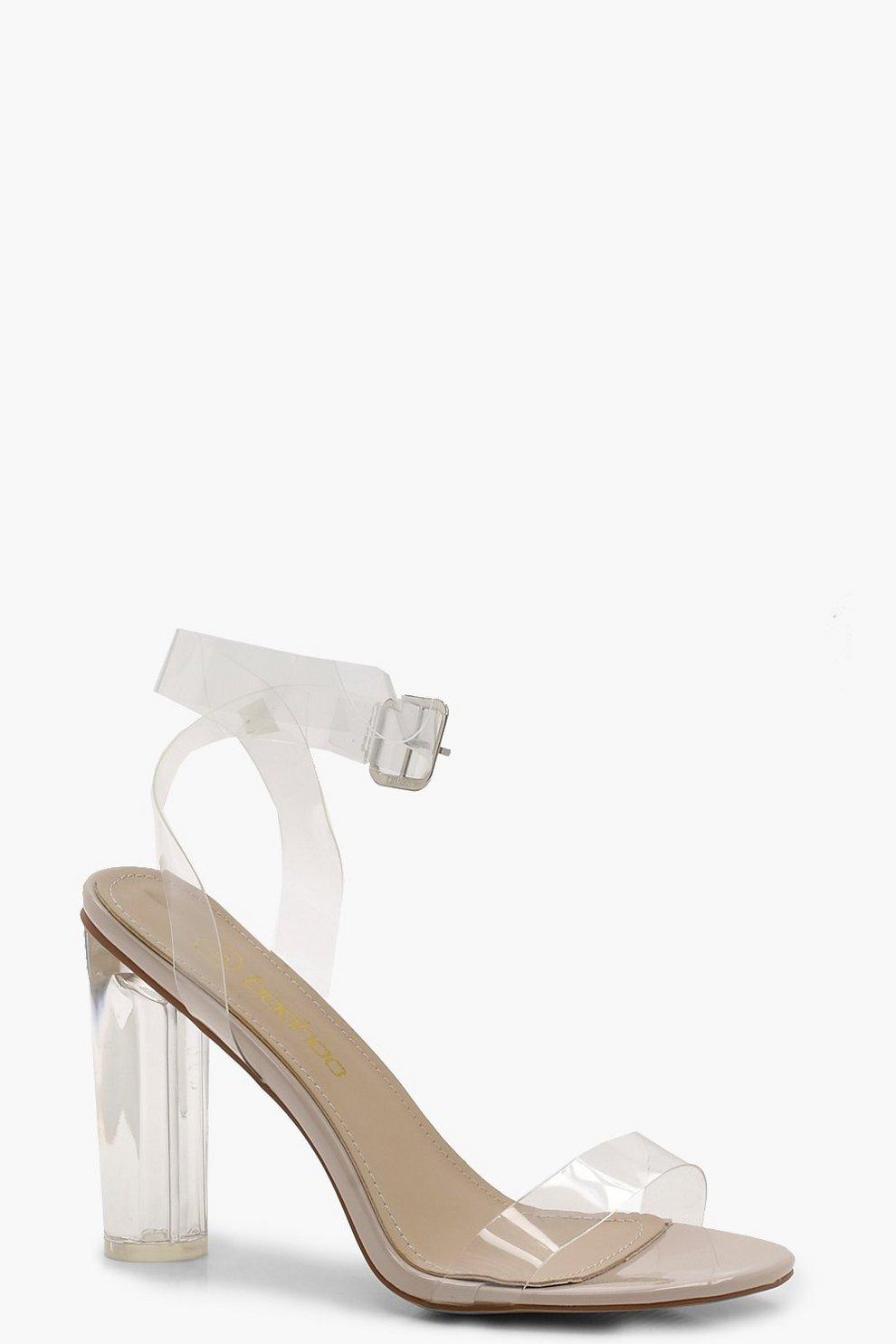 buscar estilo distintivo lindo baratas Tacones gruesos con tira y tacón transparente Mía