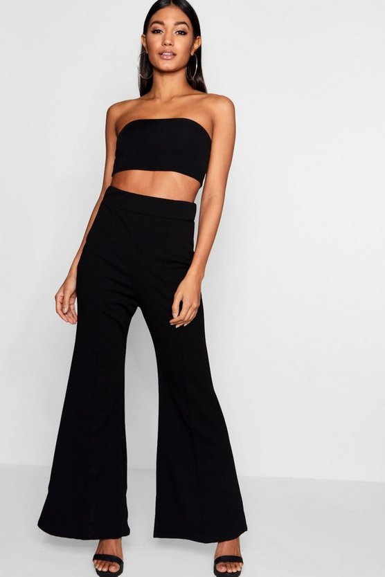Front Seam Flare Trousers