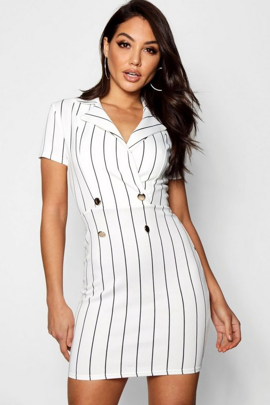 Stripe Blazer Dress