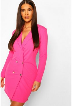 Robe blazer, Hot pink