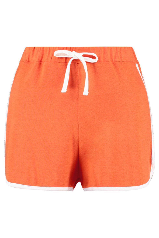 naranja adorno con de cortos contraste correr Pantalones en I0CFwxx