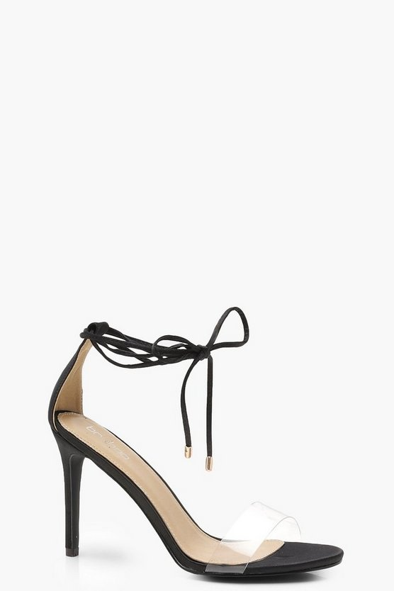 Wrap Ankle Clear Strap Sandals