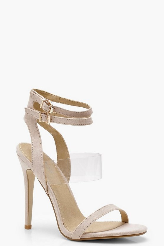 Clear Panel Double Buckle Sandals