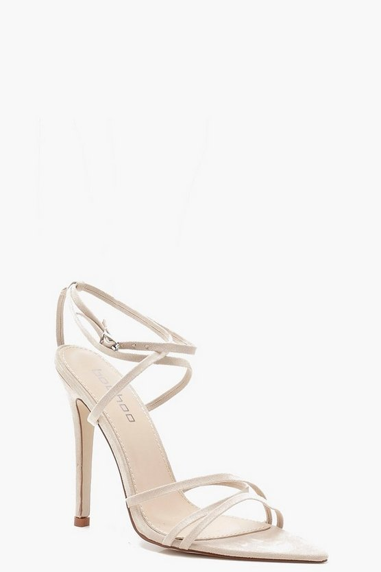 Extreme Pointed Toe Wrap Strap Heels