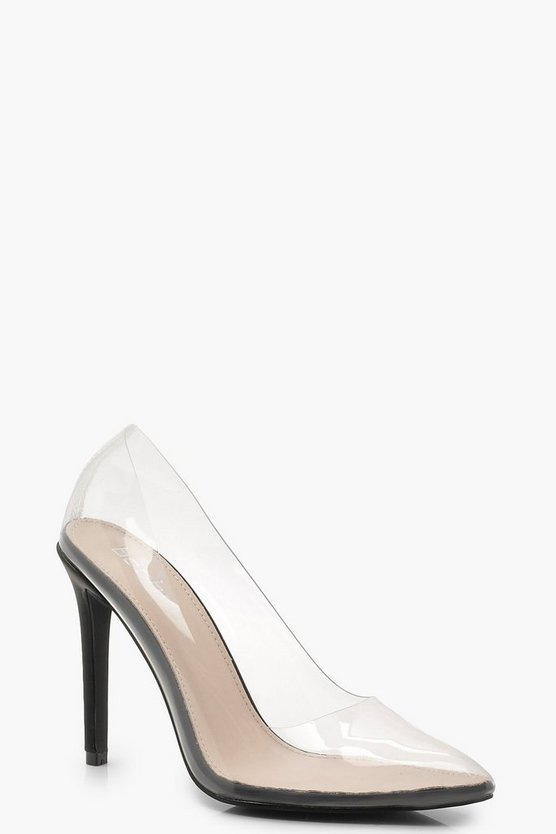 Clear Pointed Toe Court Shoes
