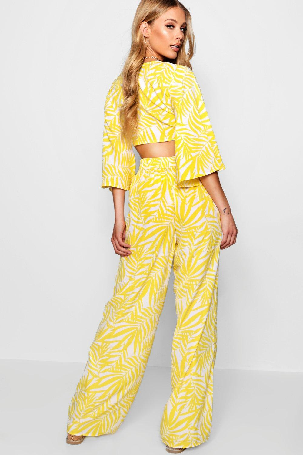 Tie Top Wide Front Nala yellow and ord Co Frill Leg Zqyp61d6