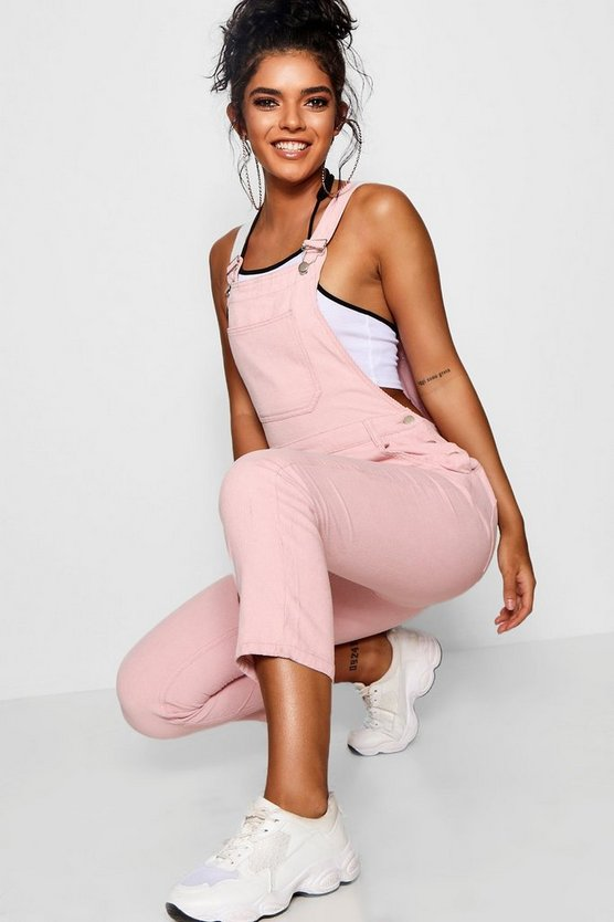 Baby Pink Cord Dungaree