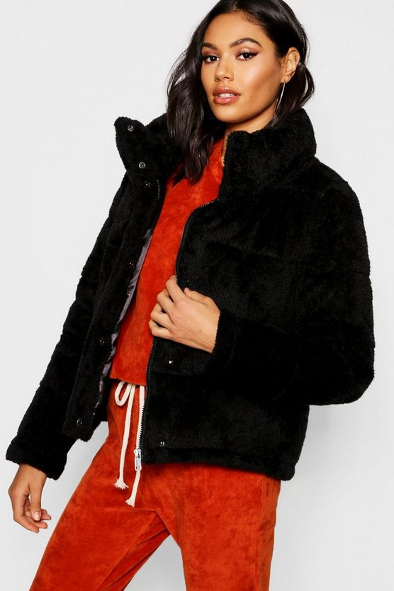 Teddy Faux Fur Padded Jacket