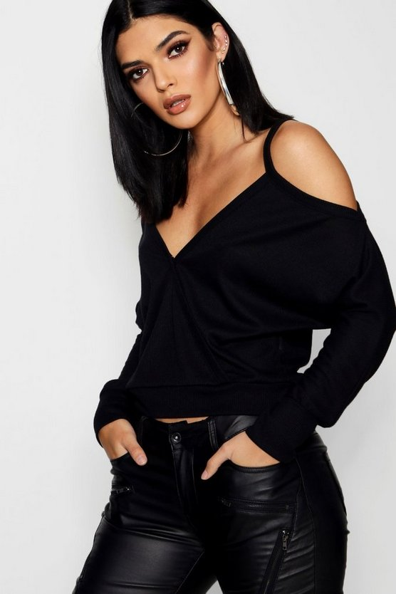 Cold Shoulder Rib Top