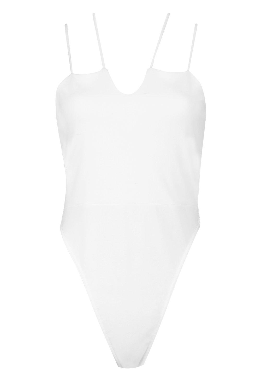Plunge Bodysuit white Cross Scuba Daisy pz5qwAz