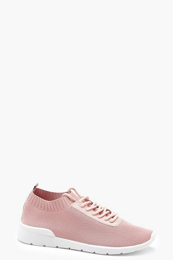 Knitted Trainers by Boohoo