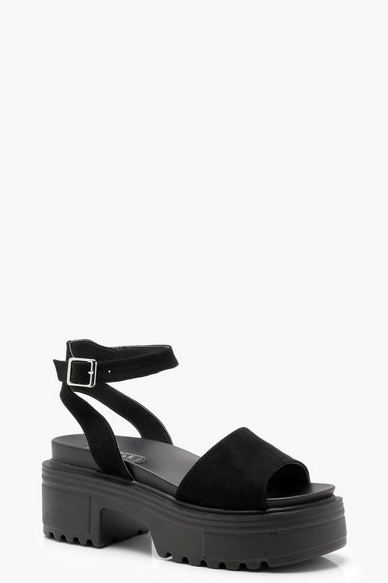 Chunky Cleated Peeptoe Sandals