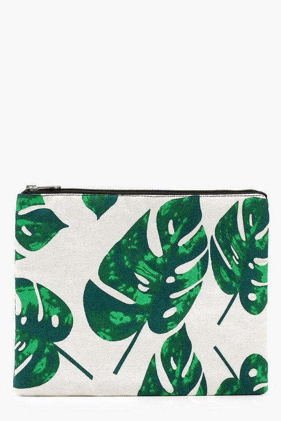 Tropical Leaf Clutch Bag