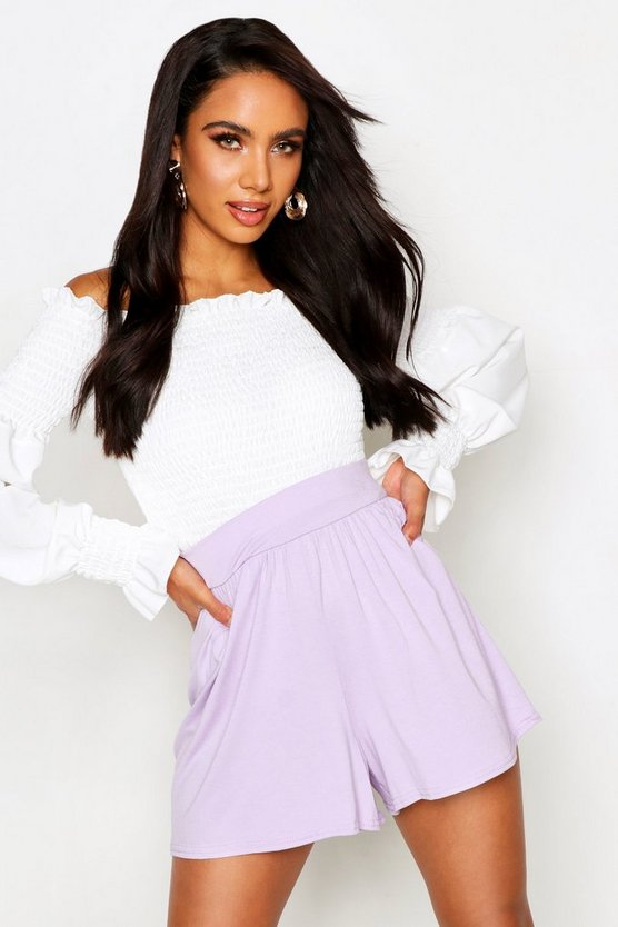 Basic Floaty Shorts, Lilac, Donna