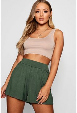 Khaki Basic Flippy Shorts