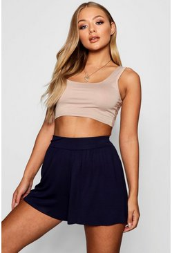 Womens Navy Basic Flippy Shorts