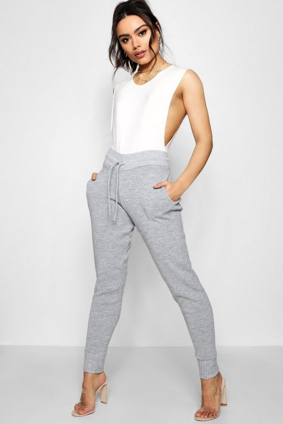 Womens Grey Boutique Heavy Knitted Lounge Jogger