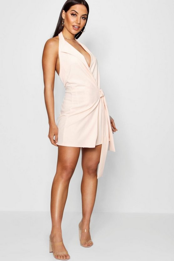 Wrap Tie Detail Bodycon Dress