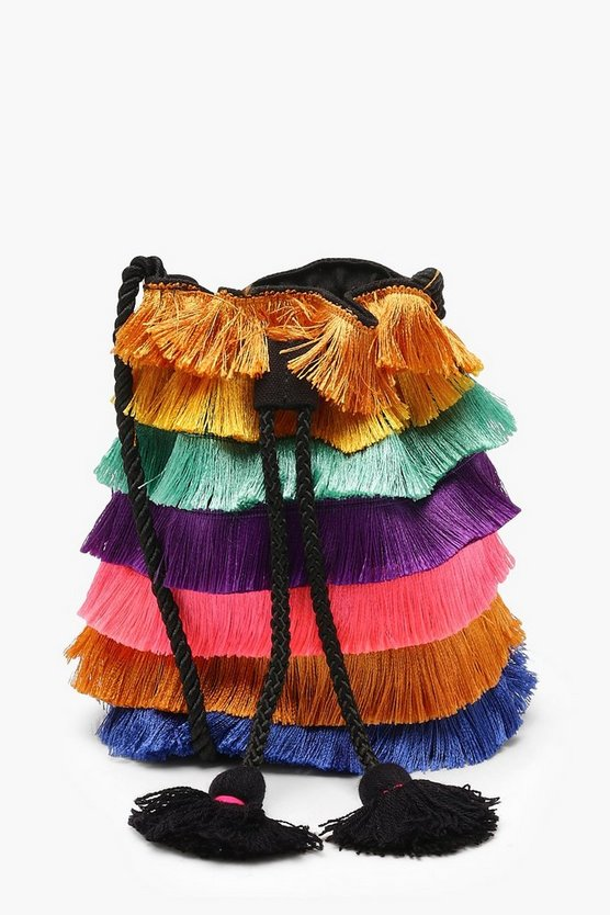 Multi Colour Fringe Duffle