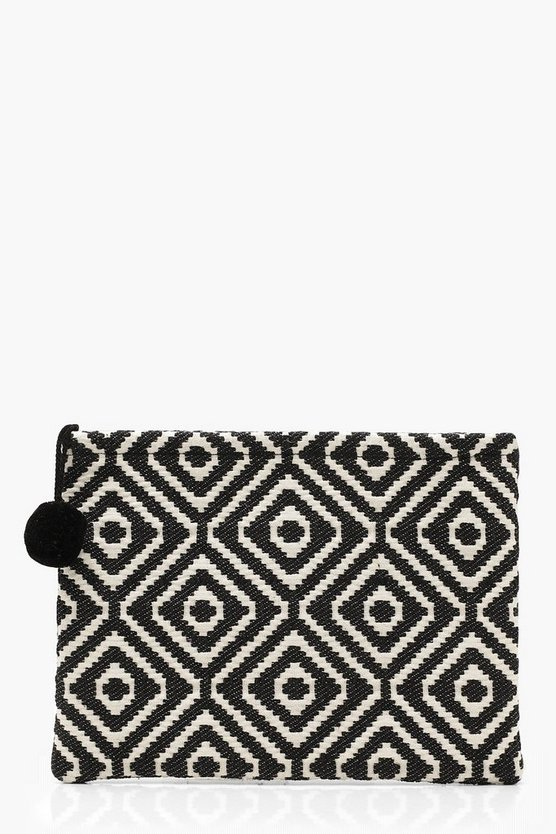 Oversized Aztec Clutch