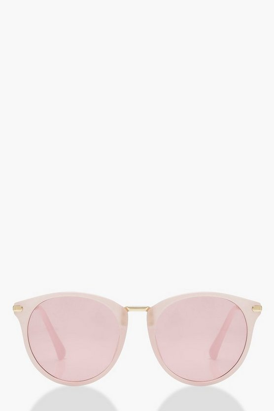 Lucy Pastel Pink Round Sunglasses