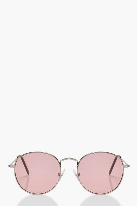 Womens Pastel pink Lucy Pastel Lens Retro Sunglasses