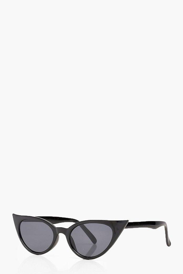 Extremt smala solglasögon i cat eye modell | boohoo