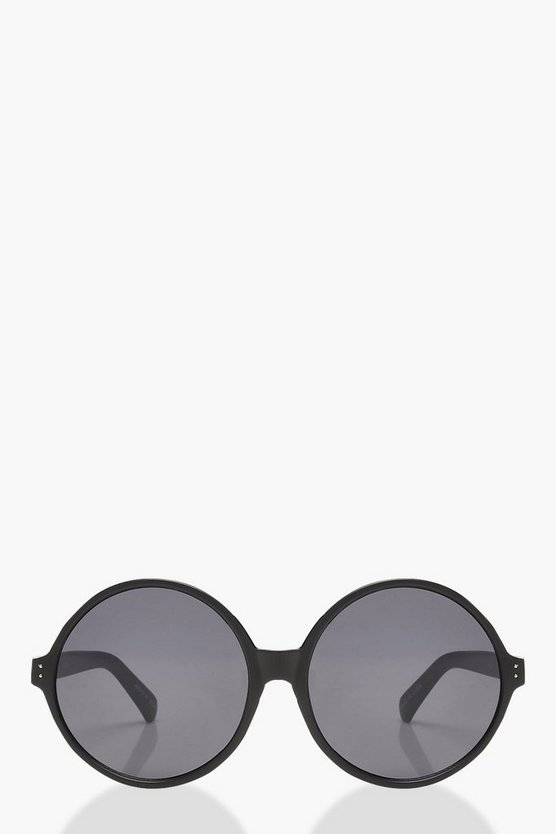 Oversized Matte Round Sunglasses