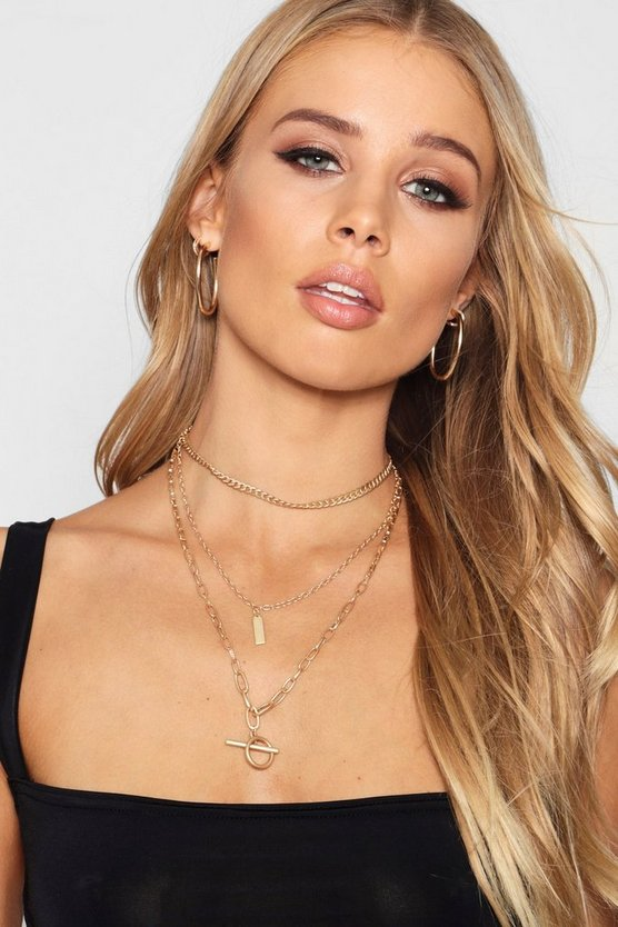 Chain Choker Layered Necklace