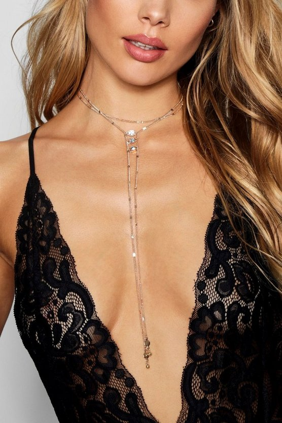 Choker Plunge Necklace