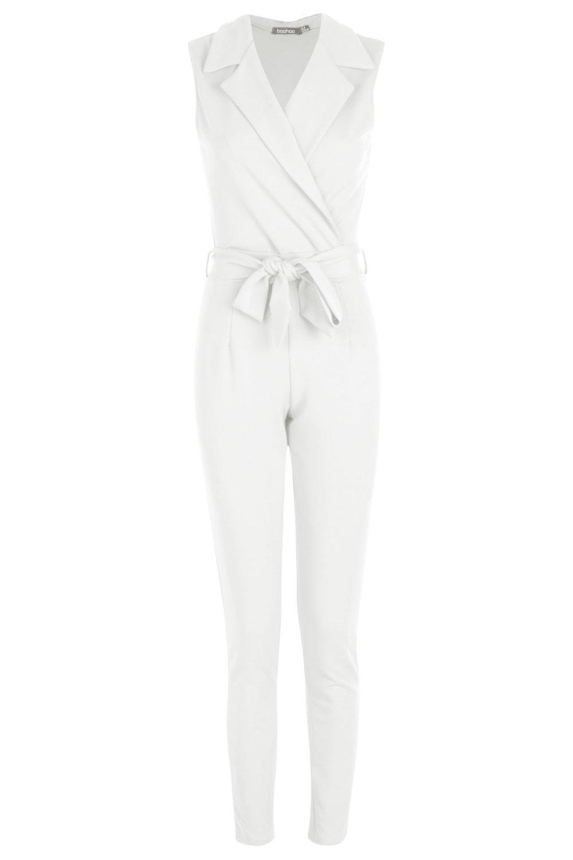 cinturón Mono con blanco y largo con cuello qUwfES