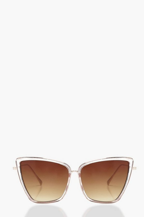 Contrast Opaque Eye Sunglasses