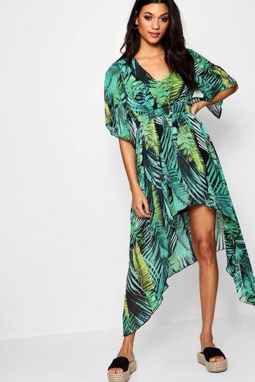 506aff46b54f1 Hanky Hem Palm Print Maxi Dress