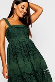 7c15129aa9 ... Embroidered Square Neck Midi Skater Dress alternative image