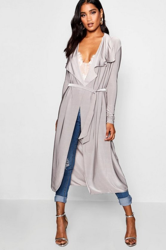 Waterfall Slinky Belted Duster