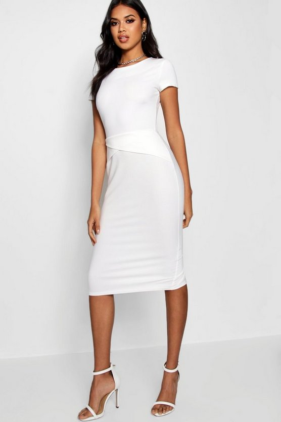 Asymmetric Detail Midi Dress