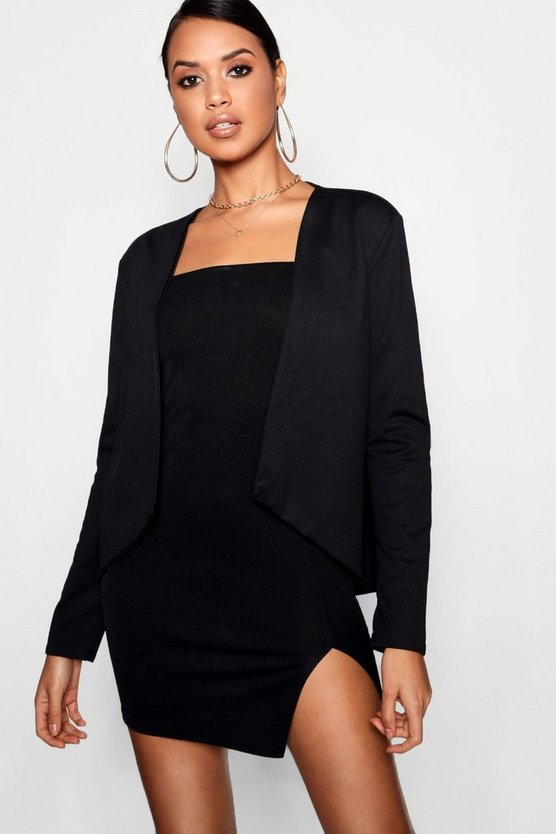 Womens Black Edge To Edge Blazer