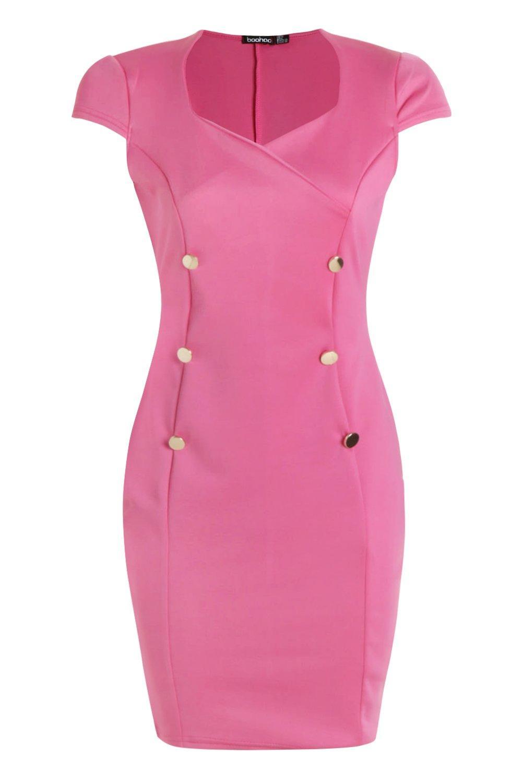Boohoo-Vestido-bodycon-con-detalle-de-botones-Jennie-para-Mujer