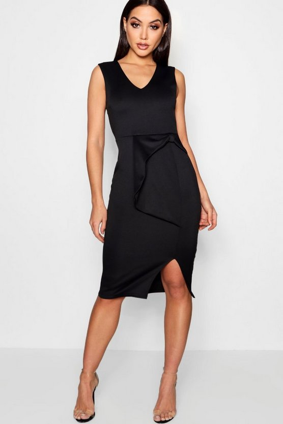 Bow Detail Midi Dress