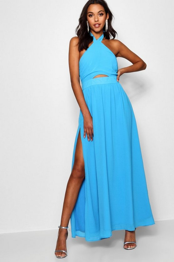 Maisy Strappy Cut Out Detail Maxi Dress