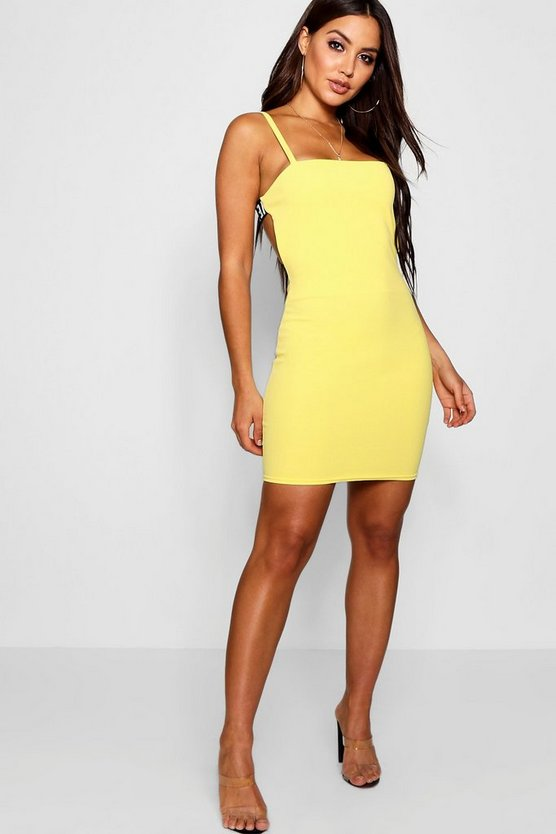 Open Back Sports Trim Bodycon Dress