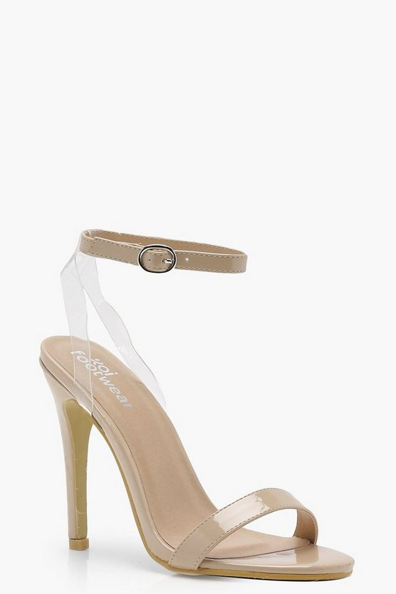 Kayla Clear Strap Barely There Heels