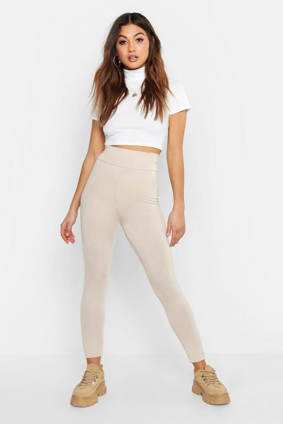 Womens Stone Basic High Waist Leggings