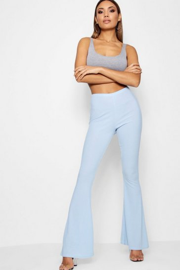 Womens Ribbed Skinny Flare