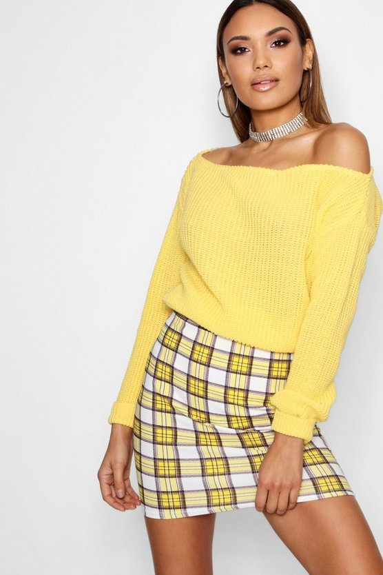 Crop Slashneck Jumper