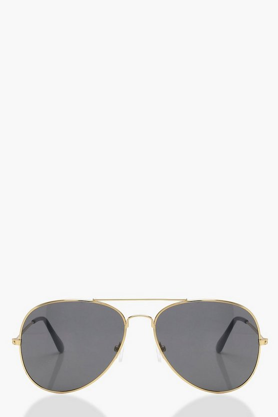 Lily Gold Frame Aviator Sunglasses