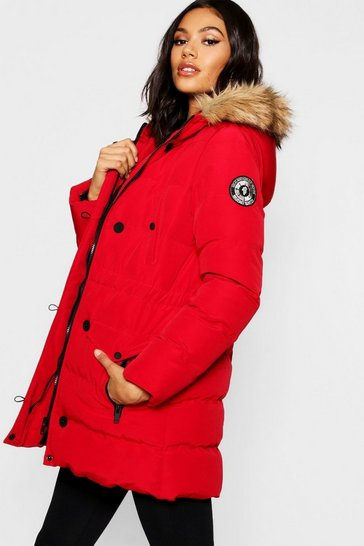 fe8f2aa236456 Faux Fur Trim Cire Puffer Jacket. £35.00 £31.50. Womens Red Luxe  Mountaineering Parka. Womens Red Luxe Mountaineering Parka · Luxe  Mountaineering Parka